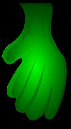 Clipart - Green Monster Hand 1