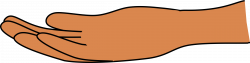 Clipart - Palm up hand (dark skin)