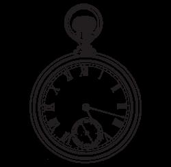 Pocket watch Clock Clip art - Hand-painted alarm clock 1635*1596 ...