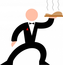 Waiter   Free Stock Photo   Illustration of a waiter with a tray of ...