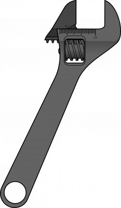 Clipart - Adjustable wrench