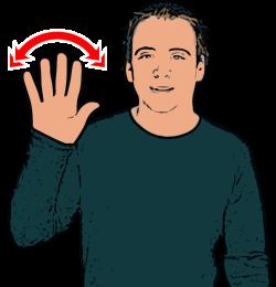 British Sign Language Dictionary | Goodbye