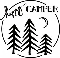 Happy Camper Stencil for freezer paper | DIY T-shirt Ideas with ...