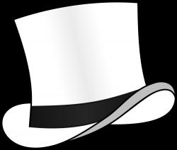 OnlineLabels Clip Art - Top Hat White