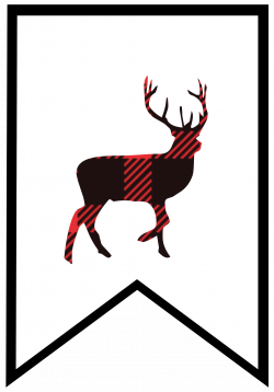 Buffalo Plaid Free Printable Banner Letters | Pinterest | Printable ...