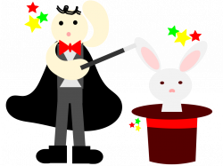 Clipart - magician with a rabbit in a hat