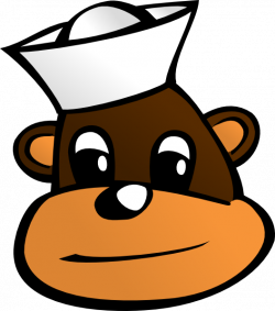Monkey With Sailor Hat Clip Art at Clker.com - vector clip art ...