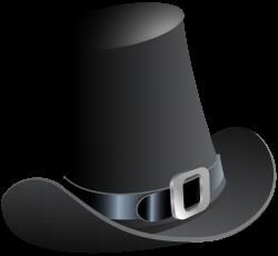 Black Pilgrim Hat PNG Clip Art Image | Gallery Yopriceville - High ...