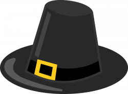 Clipart - Pilgrim Hat with Black Band