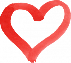 15 Red Watercolor Heart (PNG Transparent) | OnlyGFX.com