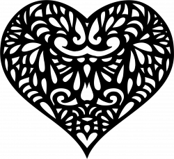 Clipart - Decorative Ornamental Heart Silhouette