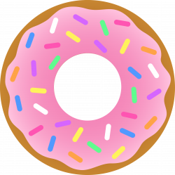 Pink Donut Clipart free image