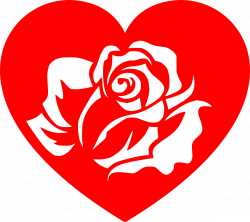 Heart Rose White by SeriousTux | stencil | Pinterest | Stenciling ...