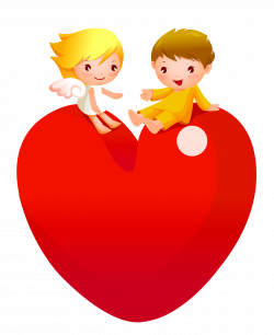 Red Heart with Angels PNG Clipart | 122 LADY A & LITTLE WINTER TALES ...