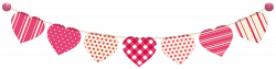 Heart Streamer PNG Clip Art Image | Places I want to go | Pinterest ...
