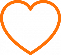 Orange Heart Clip Art at Clker.com - vector clip art online, royalty ...