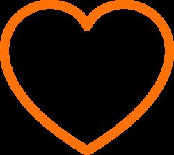 Orange Heart Clip Art at Clker.com - vector clip art online, royalty ...
