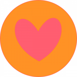 Heart In Circle Orange Clip Art at Clker.com - vector clip art ...