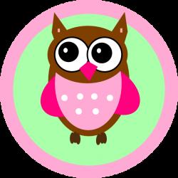 Pink Owl Tag Clip Art at Clker.com - vector clip art online, royalty ...