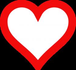 Heart Outline Clip Art at Clker.com - vector clip art online ...