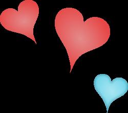 Clipart - 3 hearts