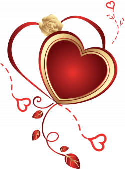 Heart with Rose Clipart   Gallery Yopriceville - High-Quality ...