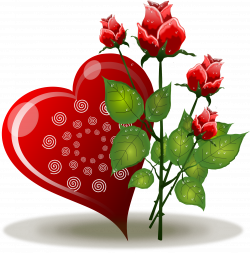 Heart Rose Flower Valentines Day Clip art - Red Rose Love 1896*1920 ...