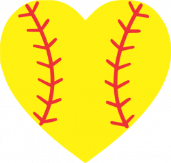 Softball clipart heart ~ Frames ~ Illustrations ~ HD images ~ Photo ...
