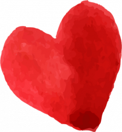 Beautiful Watercolor Heart Stickers by Digital Ruby, LLC