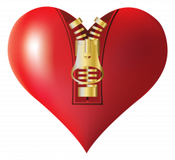 Zipped Heart PNG Clipart Image | Gallery Yopriceville - High ...