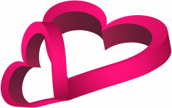 Two Pink Hearts PNG Clip Art Image | Gallery Yopriceville - High ...