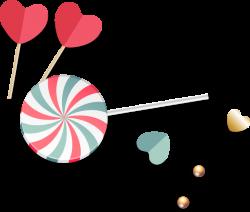 Lollipop Baby Pacifier Clip art - Red heart-shaped lollipop color ...