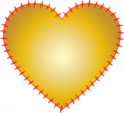 Clipart - Heart EKG Rhythm Gold