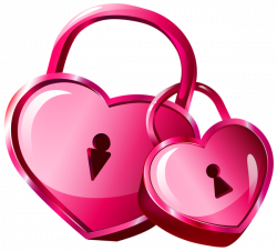 Heart Locks Transparent PNG Clip Art Image | валентинки | Pinterest ...
