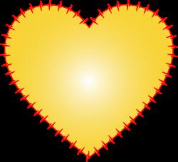 Clipart - Heart EKG Rhythm Yellow
