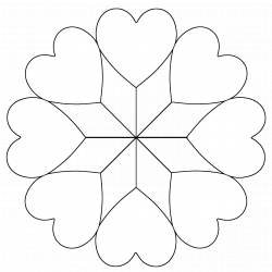 Star of Hearts quilt stencils and templates - ClipArt Best - ClipArt ...