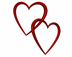 Entangled Red Love Hearts Transparent Background Valentine ...