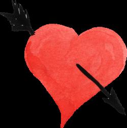 Heart Watercolor painting Arrow Clip art - watercolor heart 691*701 ...