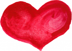 10 Red Watercolor Heart (PNG Transparent) | OnlyGFX.com