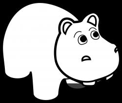 Hippo Black White Line Art | Clipart Panda - Free Clipart Images