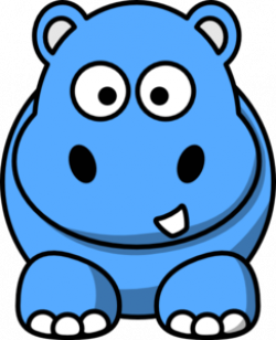 Blue Hippo Clip Art at Clker.com - vector clip art online ...
