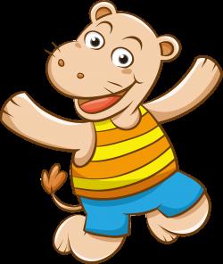 Clipart - Cartoon Hippo