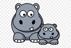 Hippo Clip Art - Cartoon Hippo - Png Download (#17888 ...