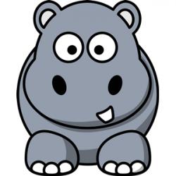 Cartoon hippo clipart, cliparts of Cartoon hippo free ...