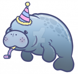 Cute Manatee Drawing at GetDrawings.com | Free for personal use Cute ...