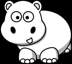 Side Hippo Outline Clip Art at Clker.com - vector clip art online ...