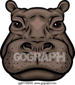 Vector Clipart - Hippo or african hippopotamus animal ...