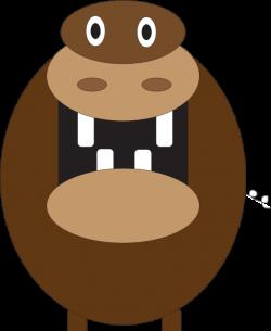 Clipart - Hippo