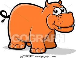 Vector Art - Hippo. Clipart Drawing gg67077417 - GoGraph