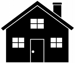 image of house Black Background Graphics | Black House Silhouette ...